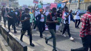 Endsars Protest 1 300x169 - EndSARS: Court Asks Police To Probe Sam Adeyemi, Davido, Wizkid, Falz, Others [Full list]