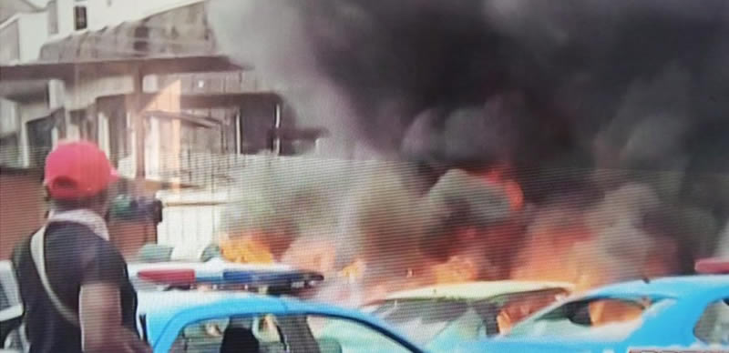 FRSC office - Important Places Burnt By Hoodlums In Lagos