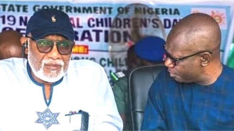 Governor Rotimi Akeredolu with his deputy