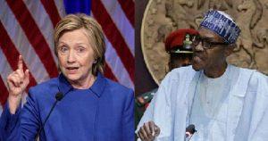 Hillary Clinton and Buhari 300x158 - Stop Killing Young #EndSARS Protesters- Hillary Clinton Warns Buhari, Soldiers