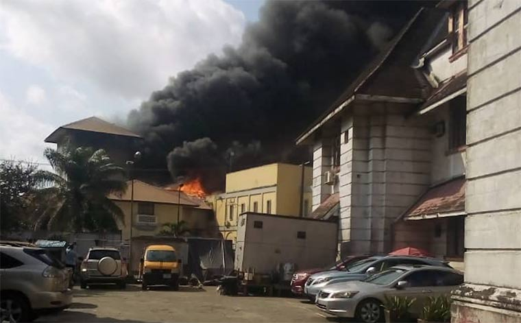 Igbosere Court - Important Places Burnt By Hoodlums In Lagos
