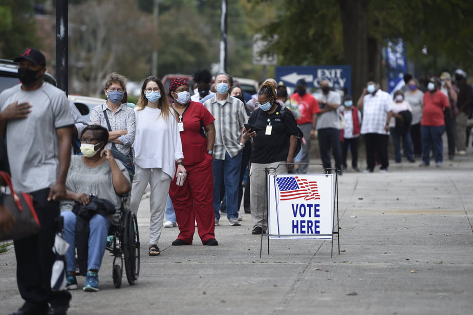 Monday was the first day of advance polling in the state of Georgia, United States
