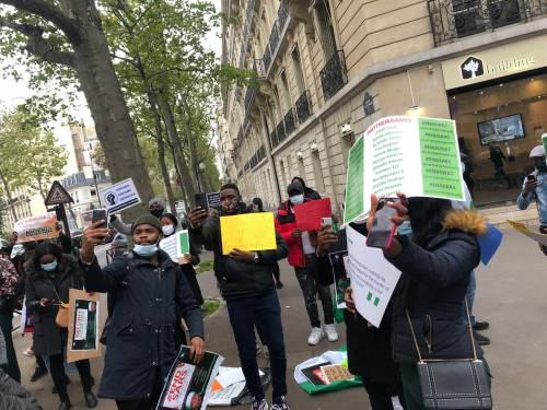 Nigerians in France 1 - #EndSARS: Nigerians In France Join Protest, Ask Buhari, IGP To Resign