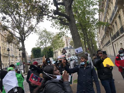 Nigerians in France 2 - #EndSARS: Nigerians In France Join Protest, Ask Buhari, IGP To Resign