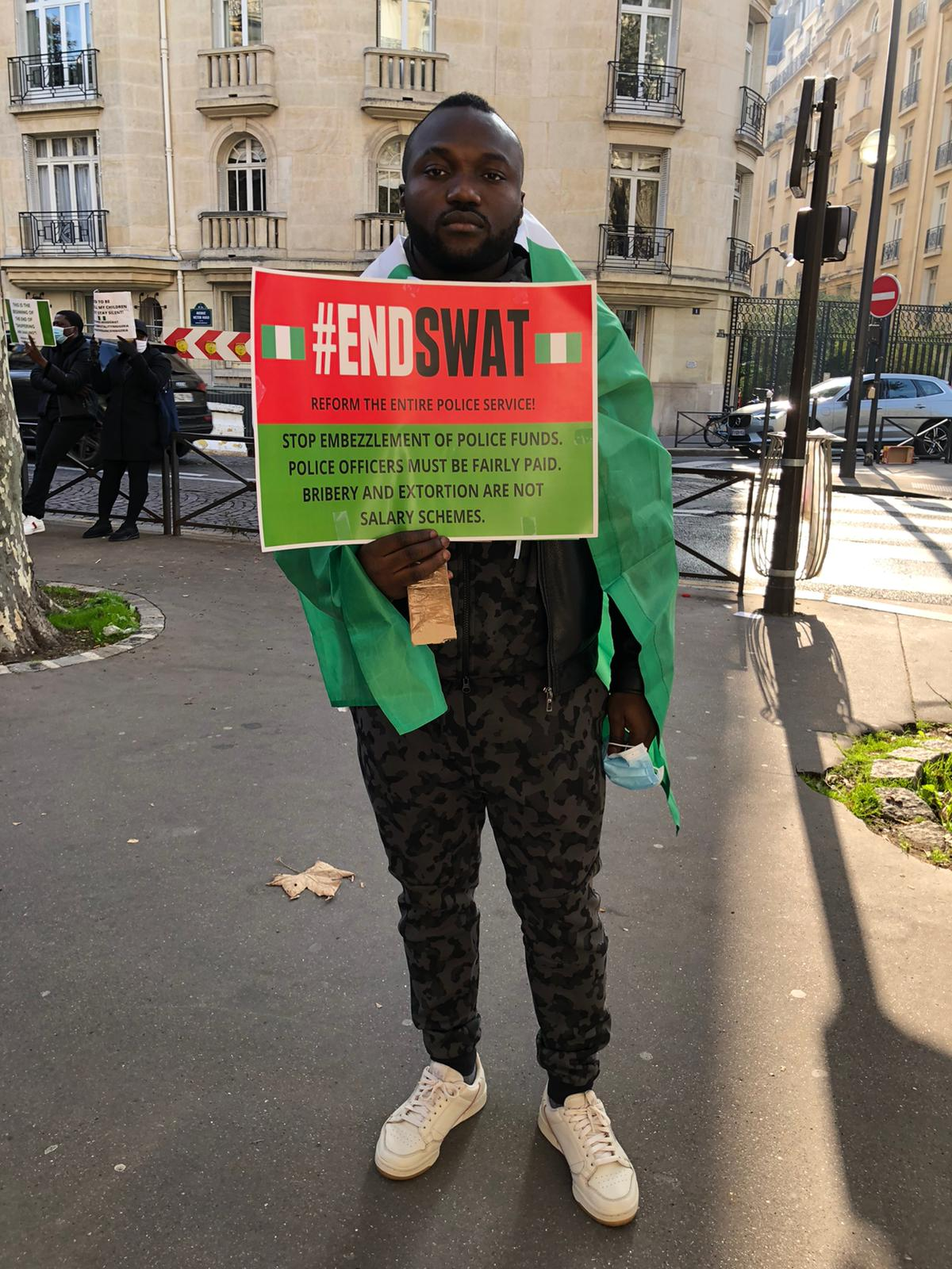 Nigerians in France 3 - #EndSARS: Nigerians In France Join Protest, Ask Buhari, IGP To Resign