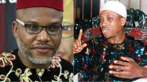 Nnamdi Kanu and Uwazuruike 300x168 - Nnamdi Kanu Has Abandoned Biafra, Now Working For Buhari – Uwazuruike