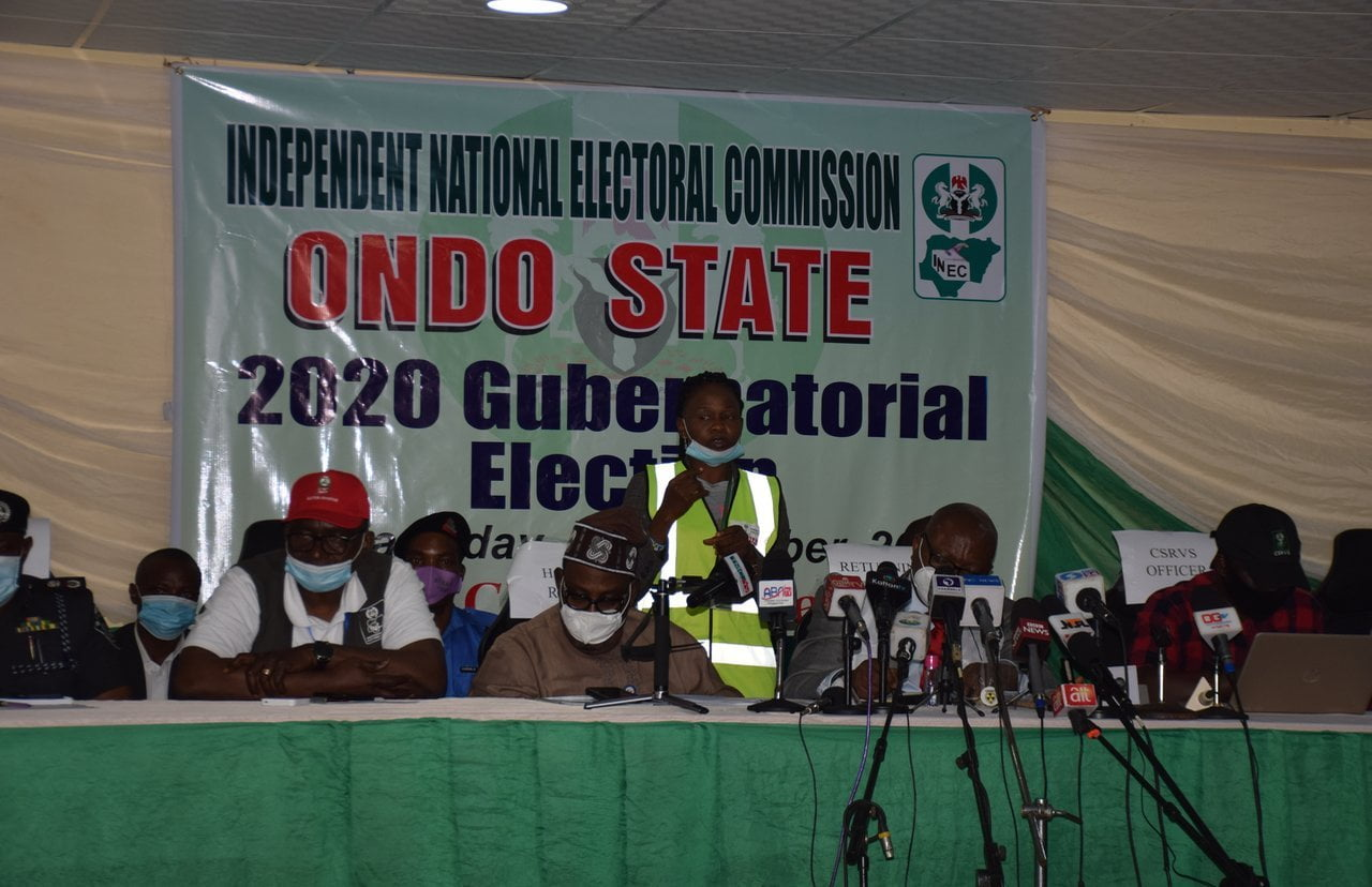 #OndoDecides2020: Results Of All 18 LGAs Announced By INEC