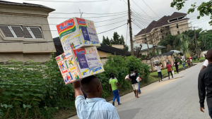 Photo of Calabar residents invade Covid 19 palliative 300x169 - Looted Food Meant For 2 Million Families, 10 Million Nigerians – CACOVID Reveals