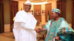 President Muhammadu Buhari and Alaafin of Oyo 1 1 300x169 - How Buhari Killed #EndSARS Protesters At Lekki Toll Gate – Alaafin Of Oyo