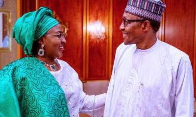 President Muhammadu Buhari and his wife Aisha look at each other in love, as they mark the 60th anniversary of Nigeria's independence.