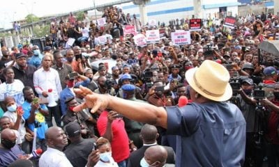 After Initial Threat, Wike Bows To Pressure, Joins #EndSARS Protesters (Video)