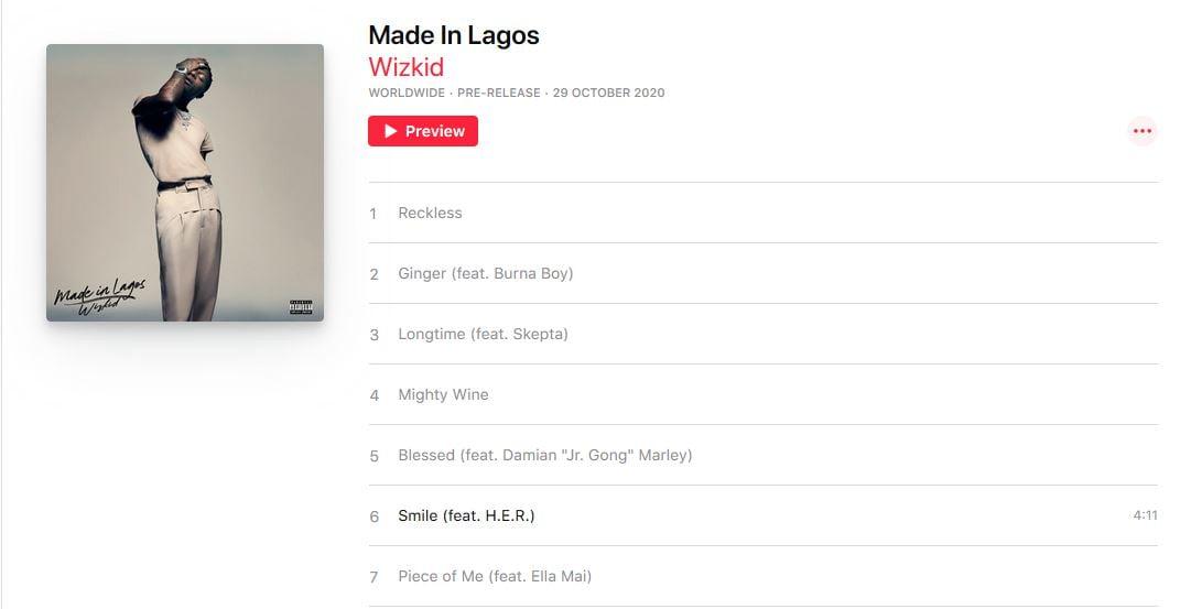 Wizkid Made In Lagos - Wizkid's #MadeInLagos Album Is Out (Listen And Download Here)
