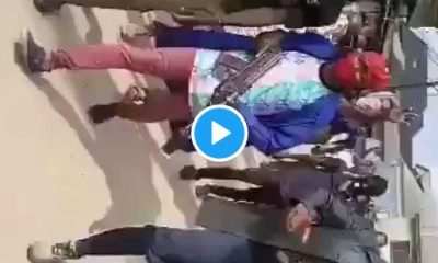 #EndSARS: Watch Youths Protesting With Guns In Aba (Video)