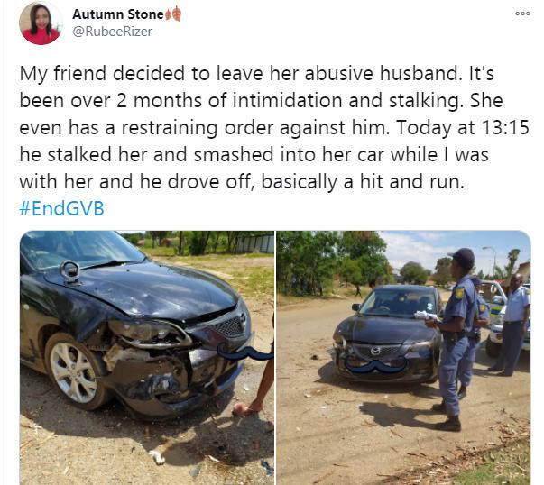 5fa3fb4676927 - Man Smashes Ex-Wife's Car In Public Despite Retraining Order By Police