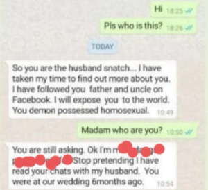5face8ffa0984 300x274 - Leaked Chat: Nigerian Woman Challenges Her Husband's Gay Lover