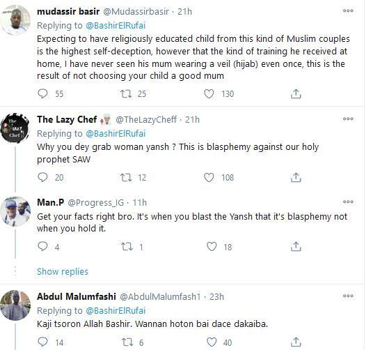 Bashir El Rufai tweet - 'They Are Very Stupid' – El-Rufai's Son Blasts Muslims Who Condemned Pictures With His Wife