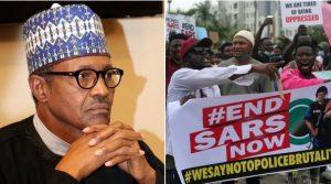 Buhari and EndSARS Promoters 300x167 - Freezing Of Accounts: 'Nigerian Judiciary Most Useless In The World' – Aisha