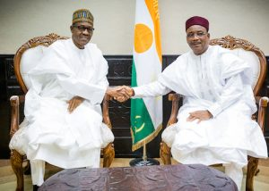 Buhari in Niger Republic 300x214 - Nigerian Government Signs Agreement To Import Petrol From Niger