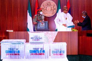 Buhari receives panel report on EFCC Magu 300x200 - EFCC: Buhari Speaks After Receiving Panel Report On Ibrahim Magu