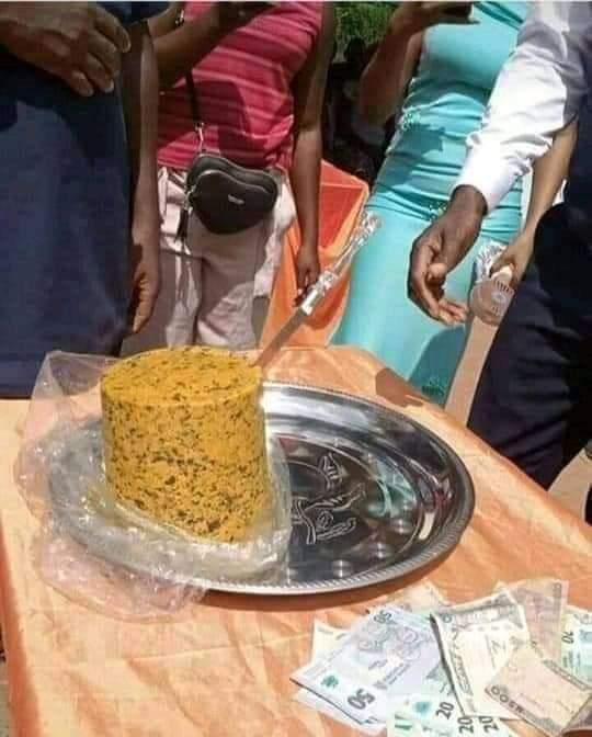 Cake 2 - Igbo Couple Make History, Use Ukwa [Breadfruit] As Wedding Cake – [Photo]
