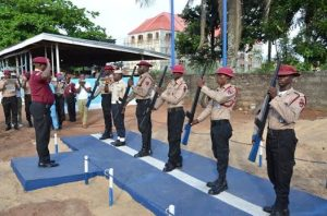 FRSC Officials Training With Guns 300x198 - Nigerians Angry Over Attempt To Give Guns To Road Safety Officers