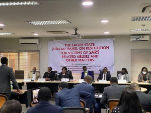 Lagos Panel sitting 300x225 - Lekki Shootings: Three Generals To Testify Before Lagos #EndSARS Panel