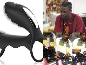 Laycon Cock Ring 300x225 - BBNaija's Laycon Receives Sex Device As A Birthday Gift From A Fan – [Video]