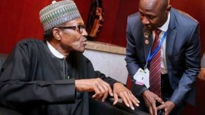 Magu and Buhari 653x365 1 300x168 - JUST IN: Buhari Receives Salami Panel Report On Suspended EFCC Chairman Magu