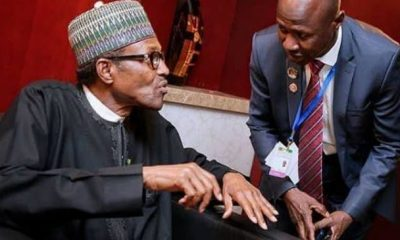 JUST IN: Buhari Receives Salami Panel Report On Suspended EFCC Chairman Magu