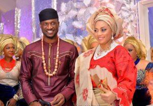Peter Okoye and Lola Okoye 300x208 - Mr P [Peter Okoye] And Wife Lola Celebrates 7th Wedding Anniversary