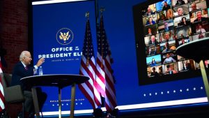 President elect Joe Biden does not want to waste any more time he spoke on Monday by video conference from Delaware with representatives of the Conference of American mayors 300x169 - United States: Internal Rivalries Begin For Biden Administration