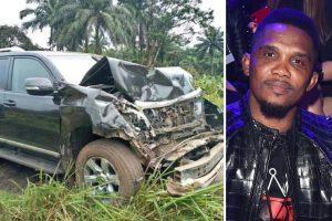 Samuel Etoo Car Crash 300x200 - Samuel Eto'o Hospitalised After A Car Accident
