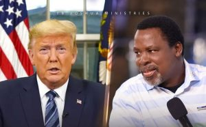 TB Joshua and Trump 300x186 - TB Joshua Sends Important Message To Trump Over Us Election 2020