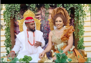 Williams Uchemba and Wife 4 300x208 - Actor, Williams Uchemba Weds Brunella Oscar Traditionally – [See Photos]