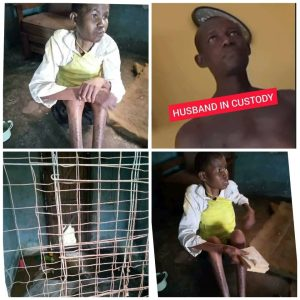 Woman caged and her husband 300x300 - Update: Man who caged his wife for over three years after accusing her of being a witch has been arrested
