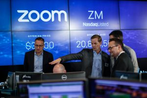 Zoom stock 300x200 - Shares of Zoom Slump as Investors Doubt it Would be Effective Post COVID-19 Vaccine