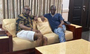 fayose and ajayi 300x181 - Fayose Meets Agboola Ajayi, Wants Him Back In PDP