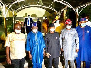 osinbajo tinubu and sanwo olu 300x225 - VP Osinbajo Meets Bola Tinubu, Sanwo-Olu In Lagos