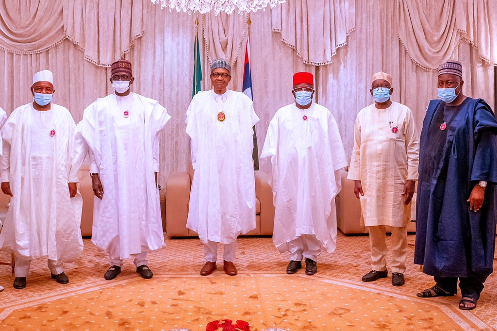 umahi2 - PHOTOS: President Buhari Receives Umahi, Other APC Chieftains