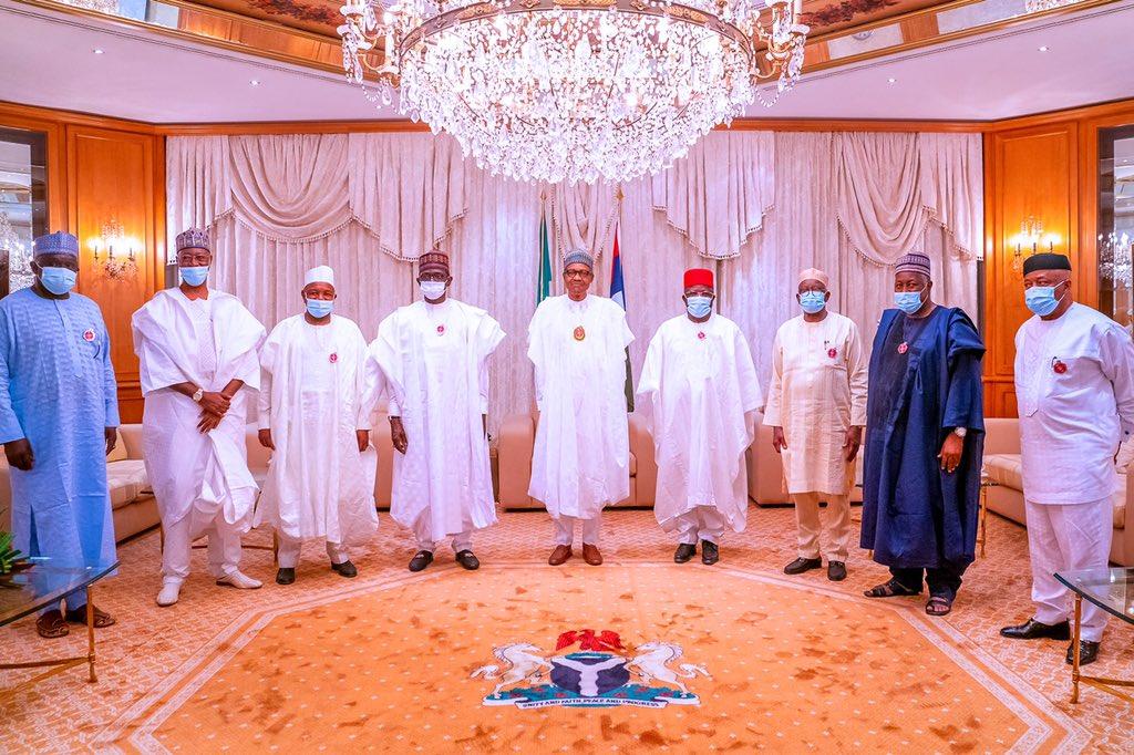 umahi3 - PHOTOS: President Buhari Receives Umahi, Other APC Chieftains