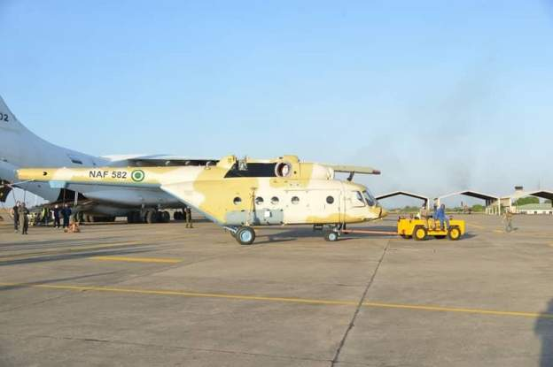 A new Nigerian helicopter has arrived in the country.. - Nigerian Air Force Takes Delivery Of A New Mi-171E Helicopter