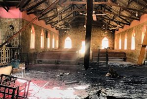 BP Remains of EYN church in Garkida copy 300x203 - Boko Haram: Watch As Garkida Residents In Adamawa Flee To Mountains