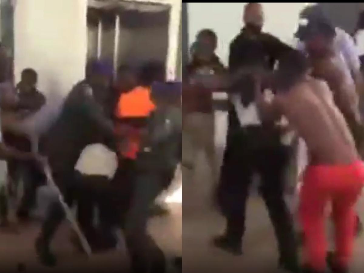 Drama As Disabled Men Beat Up Security Man At The National Assembly - [Video]  | Naija News