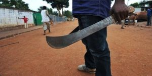 File Phot A Cultist with cultlass 300x150 - Five killed In Bayelsa Rival Cults Clash