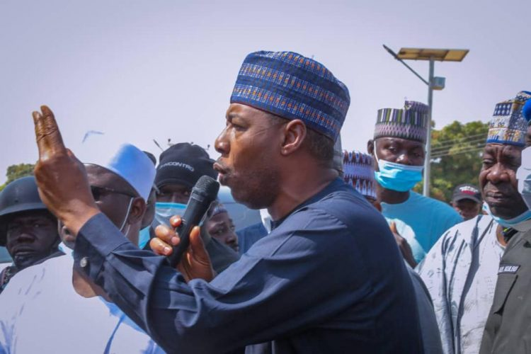 Governor Zulum was in Yimirshika Azare Sabon Kasuwa and Shafa - Insecurity: Zulum Suspends Abuja Trip Visits Borno Villages Attacked By Boko Haram