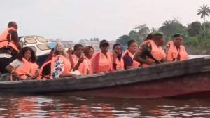 INEC Officials 300x168 - Six Nigerian Policemen Killed As Boat Capsizes In Bayelsa