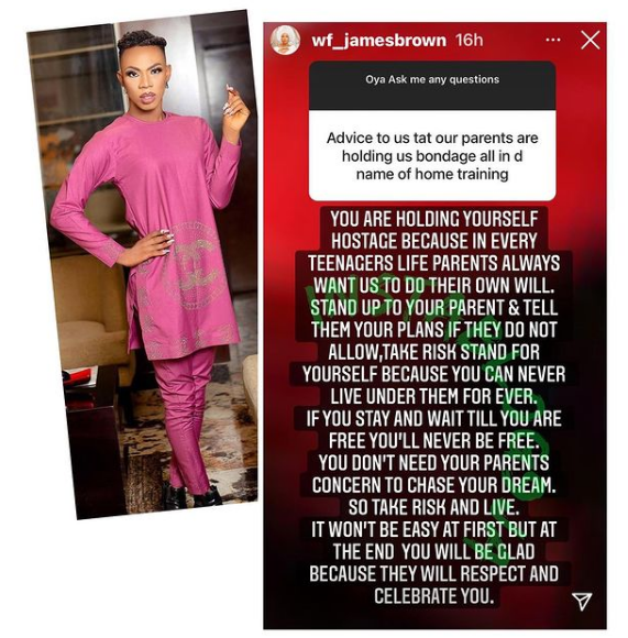 James Brown - Nigerian Crossdresser, James Brown Turns 'Counsellor' Advices Young Men And Women