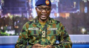 Major General John Enenche Director of Defence Information 300x162 - Troops Rescue 10 Kidnap Victims In Katsina, Zamfara