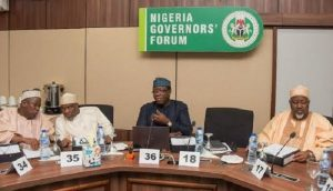 Nigeria Governors Forum 300x172 - Insecurity: Governors Hold Emergency Meeting In Aso Rock