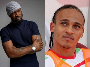 Peter Okoye and Osaze 300x225 - Osaze Odemwingie, Peter Okoye Settles Quarrel – [Video]